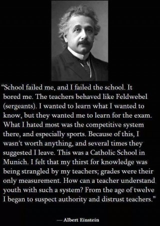 albert einstein on schools and teachers