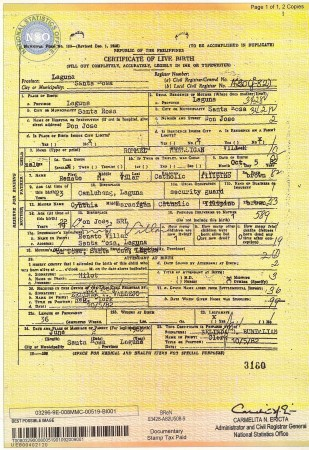 birth certificate and bond