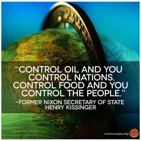 control the world through food